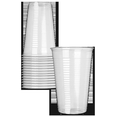 Bekers plastic 0,25 liter - 1000 stuks